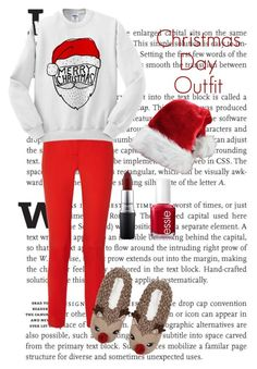 """Christmas Day Outfit"" by jessicawednesday ❤ liked on Polyvore featuring Michael Kors, Topshop, MAC Cosmetics and Essie"