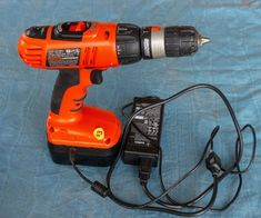 Cordless Drill Repair - Add a Cord - Instructables Battery Powered Drill, Battery Drill, Cordless Drill Batteries, Cordless Power Tools, Key Diy, Corded Drill, Speakers For Sale, Old Tools, Homemade Tools