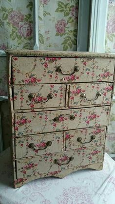 pink rose drawers