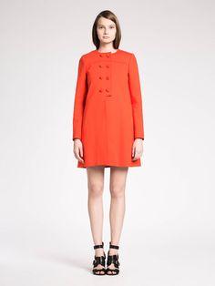Manteau en milano Coquelicot - Tara Jarmon - Boutique en ligne TARA JARMON