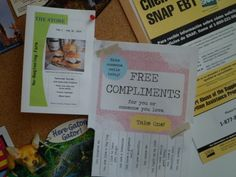 Free compliments!  The idea and flyer came from KindOverMatter.com