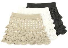 Flouncy skirts Crochet Chart, Crochet Stitches, Crochet Patterns, Skirt Patterns, Crochet Skirts, Crochet Clothes, Moda Crochet, Knit Crochet, Jupe Short