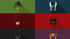 Here's some cool artwork that gives some famous superhero masks the  minimalist treatment. These come courtesy of Ukrainian graphic designer  Yuri Krasnoshchok, and you can see more at his Behance page. There are a  ton of heroes and villains featured in these two images, but I think my  favorit
