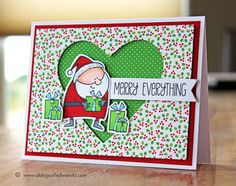 Wanda Guess: A Blog Called Wanda – Santa's On His Way! (And more Vacation pix!) - 11/6/14.  (MFT: Jingle All the Way stamps/ dies,  Fixtail Flags STAX.  Docrafts: Heart Xcut Nesting dies).