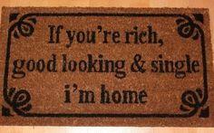 Originele ideeën voor je deurmat - humor #lachen