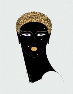 Queen of Sheba by Erte - art deco
