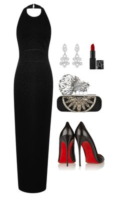 Untitled #58 by ainsleylouise on Polyvore featuring polyvore fashion style Elie Saab Christian Louboutin Alexander McQueen Allurez clothing