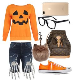 """Halloween trend!"" by klhaudita-leto on Polyvore featuring Silver Jeans Co., Louis Vuitton and Converse"