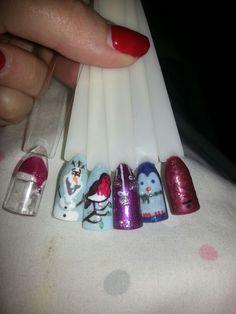 Christmas Nails. Gelish nail art.