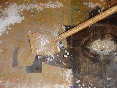 Removing asbestos tile