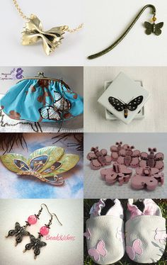 Le marque-page papillon. Le farfalle by Florentina Ispas on Etsy--Pinned with TreasuryPin.com