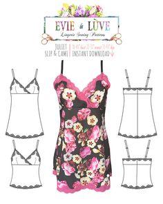 Slip & Camisole pdf Sewing Pattern - Juliet - PDF instant download E5001 from EVIE la LUVE