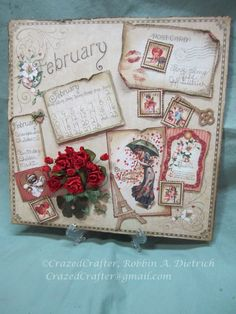 Graphic 45 Place in Time February Layout.  LOVE this paper