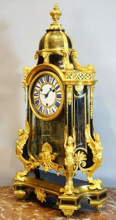 Louis XIV Boulle marquetry clock from the workshop of A. C. Boulle