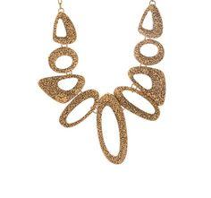 Beautiful bronze choker necklace