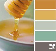Golden Amber Honey & Porcelain Palette.