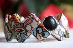 Dexter's Laboratory  cuff bracelet by FantasticFoldsShop on Etsy, $24.00
