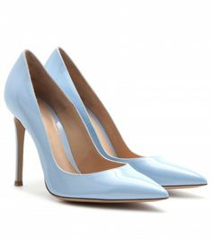 Patent Leather Baby Blue Pumps