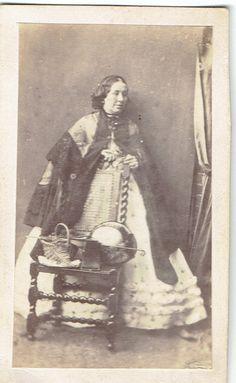 Lady Victoria Dress Carte De Visite CDV Photograph England Dated 1880's | eBay