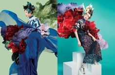 """~Lane Crawford's floral-inspired """"Botanica"""" campaign is a masterclass in lyrical drama and composition. Fashion Advertising, Advertising Campaign, Magazine Art, Magazine Design, Digital Magazine, Magazine Front Cover, Shot Film, Dutch Artists, Flower Backgrounds"""