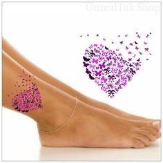 Temporary Tattoo 1 Butterfly Ankle Tattoo by UnrealInkShop on Etsy https://www.etsy.com/listing/200067186/temporary-tattoo-1-butterfly-ankle