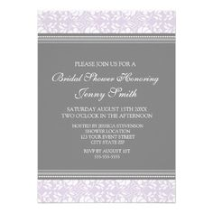 Discount DealsLilac Gray Damask Bridal Shower Invitation Cardsso please read the important details before your purchasing anyway here is the best buy