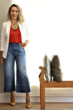 Que maravilhosa! Casual Mom Style, Casual Chic, My Style, Fashion 101, Autumn Fashion, Fashion Outfits, Trendy Outfits, Fall Outfits, Cute Outfits