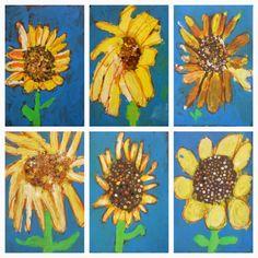 1st Grade Sunflowers Exploring Art Elementary