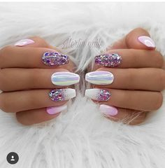 100 Spring Nail Art Designs for Women 2020 Love Nails, Pretty Nails, Fun Nails, Sparkle Nails, Spring Nail Art, Cute Spring Nails, Nagel Gel, Cute Nail Designs, Colorful Nails