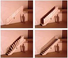 interior house DESIGN: Compact stairs for small home Interior Staircase, Modern Staircase, Staircase Design, Stair Design, Stairs Architecture, Spiral Staircases, Attic Stairs, House Stairs, Retractable Stairs