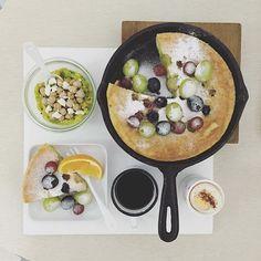 . morning morning Wednesday :-]))) . #goodmorning #morning #breakfast #yummy #goodfood #instafood #onthetable  #homemade #foodie #foodstagram #foodphotography #foodphoto #yum #2eat2gether #top_food_of_instagram #S_S_iloveBreakfast #朝食 #早餐 #朝ごパン #パンケーキ #pancake #ovenpancake #dutchbaby #烘培 #baking #鬆餅 #鐵鍋鬆餅 #3X葡萄們鐵鍋鬆餅 #烘培  #S_S_iloveBaking