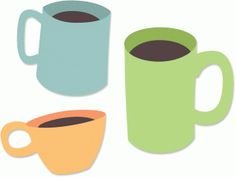 Silhouette Online Store - View Design #55734: cups and mugs