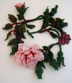 Beautiful floral beaded jewelry by Huib Petersen   Beads Magic