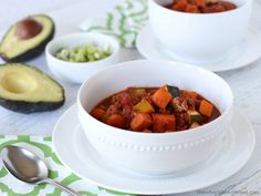 Slow Cooker Sweet Potato Chili (Bean-Free!)