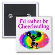 CUTE AND COLORFUL CHEERLEADING DESIGN 2 INCH SQUARE BUTTON http://www.zazzle.com/mysportsstar/gifts?cg=196898030795976236&rf=238246180177746410   #Cheerleading #Cheerleader #Cheerleadinggifts #Cheerleadergift #loveCheerleading #BowtoToe