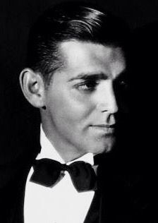 Clark Gable, photo by George Hurrell. good god he was handsome AF