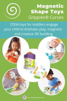 Discovery Building Sets offers STEM toys for toddlers from the Grippies®family. The large, colorful, curved, magnetic rods and balls support fine and gross motor development. These magnetic building toys provide a frustration-free building system perfect for toddlers. Furthermore, these magnetic shape toys inspire dramatic play. Grab a set of these unique toys for toddlers for some creative building. #DiscoveryBuildingSets #stemtoysfortoddlers #magnetictoys #magneticbuildingtoys Building Systems, Building Toys, Blocks For Toddlers, Magnetic Toys, Block Play, Unique Toys, Interactive Toys, Gross Motor Skills, Dramatic Play