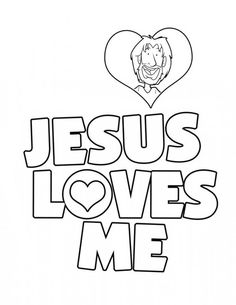coloring pages love Jesus | Jesus Loves Me, : Jesus Love Me Sticker Coloring Page