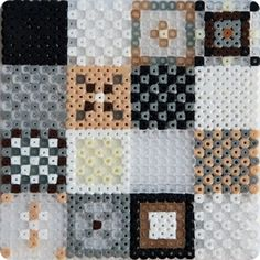 A hama bead quilt! Just the thing for you, Joyce! Hama beads pattern by Christine Clemmensen