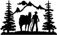 cowboy silhouette quilts - Google Search