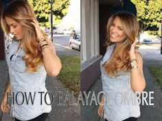 How to Color Hair | Ombre Balayage Hair Color Technique FULL LENGTH - YouTube