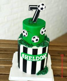 50 Most Beautiful looking Soccer Cake Design that you can make or get it made on the coming birthday. Soccer Birthday Cakes, Soccer Cake, 6th Birthday Parties, Soccer Party, Cake Designs Images, Cool Cake Designs, Football Cakes For Boys, Sports Themed Cakes, Cake Pictures