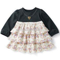 Spring Infant Girl Princess Dresses 2017 Fashion Necklace Print Girl Infant Princess Dress Spring Brand Kids Clothes Dress Girls