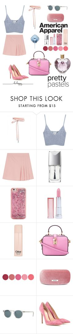 """Pastel Tones: Pink💅🏻 and Blue💧"" by stylebyceylin ❤ liked on Polyvore featuring adidas, Chicnova Fashion, Christian Dior, ban.do, Maybelline, Chloé, Dolce&Gabbana, Kjaer Weis, Miu Miu and Oliver Peoples"