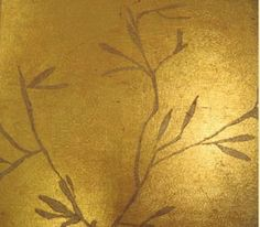 Avant Palette @ www.avant-palette.com creates custom, gilded walls!!! Illuminate your home with custom walls.