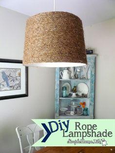 DIY Rope Lampshade by mysimplehomelife.com #36thavenuefavorites