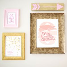 Enter to win $250 in Wall Art from @uhohpasghettio - love this chic wall decor for the nursery!