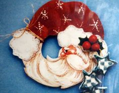 tole painted santa | Santa Pin By Gould Creations And Mary Helen Gould Tole Painting Wood ...