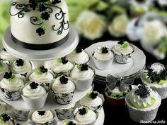 Крем, Виды сладостей, Капкейк, Свадьбы в белом цвете, Элементы декора, Свадьбы в черном цвете, Цветы, Свадьбы в зеленом цвете, Пирожные, Декор для оформления, Бабочки, Посуда, Тип торта, Мастика, Мини торт, Рисунок