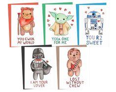 CHEWBACCA LOVE Lost Without Chew Star Wars by ServietteNation Cards For Boyfriend, Valentines Gifts For Boyfriend, Valentine Day Cards, Valentines Diy, Boyfriend Gifts, Star Wars Baby, Chewbacca, Regalos Star Wars, Cadeau Star Wars